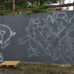 Graffiti sketch on a wall