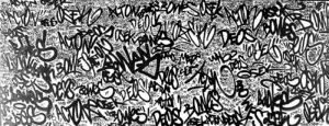 Various writings on a wall